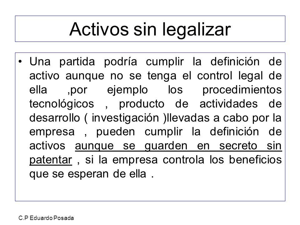 Activos sin legalizar