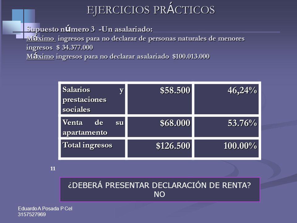 ¿DEBERÁ PRESENTAR DECLARACIÓN DE RENTA NO