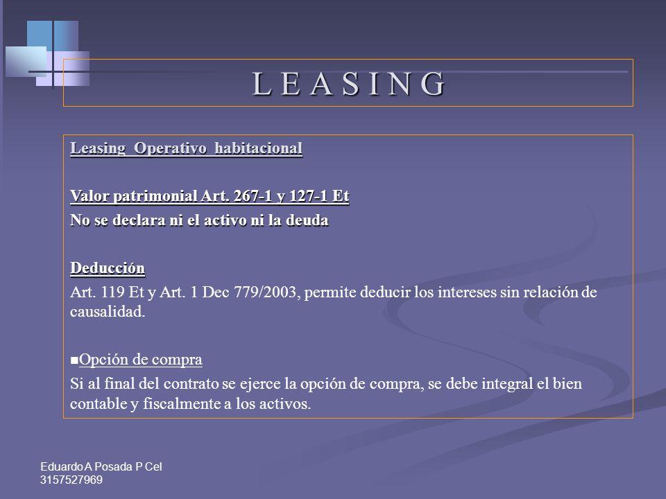 L E A S I N G Leasing Operativo habitacional