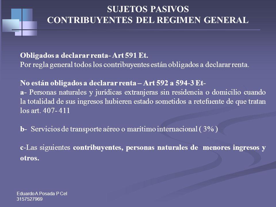 CONTRIBUYENTES DEL REGIMEN GENERAL