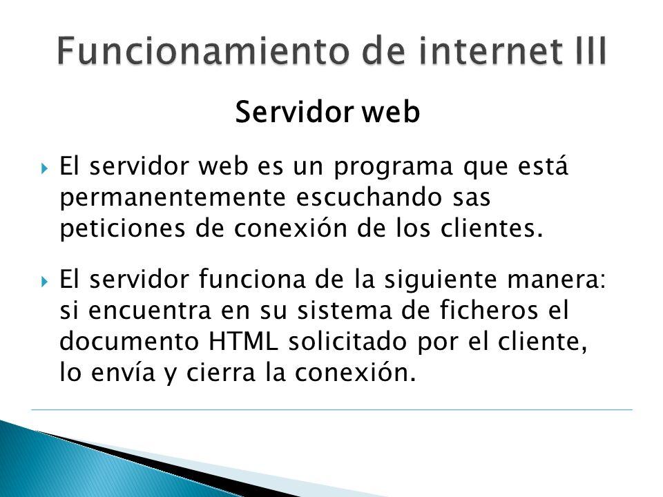 Funcionamiento de internet III