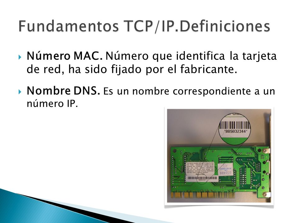 Fundamentos TCP/IP.Definiciones