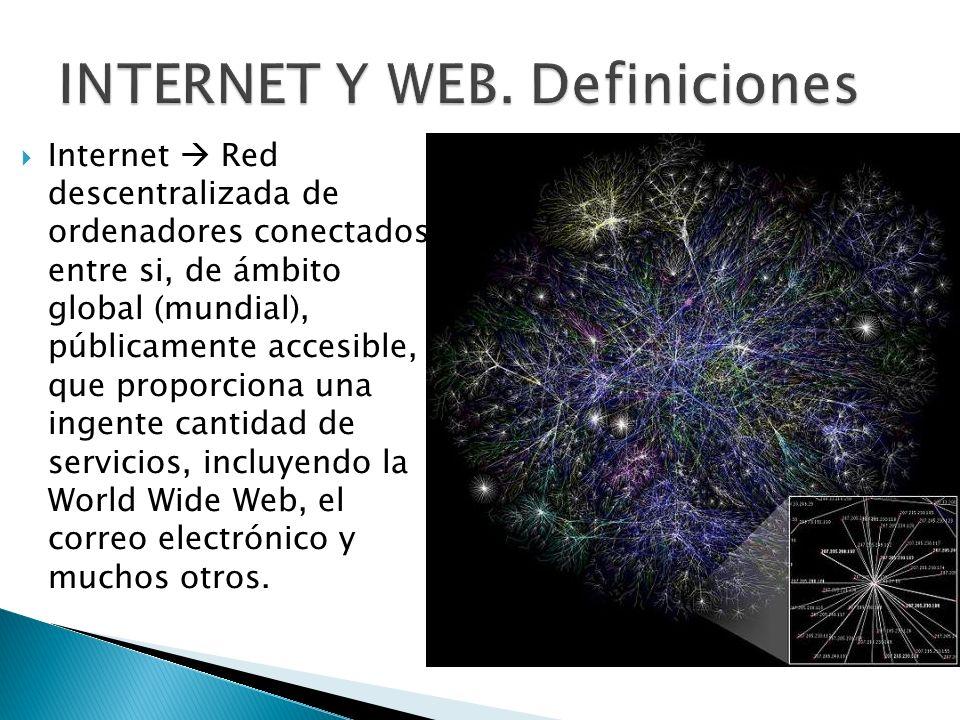 INTERNET Y WEB. Definiciones