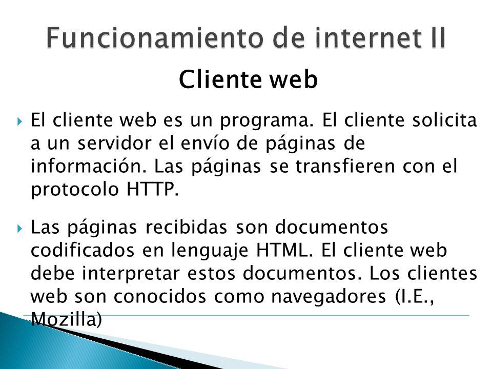 Funcionamiento de internet II