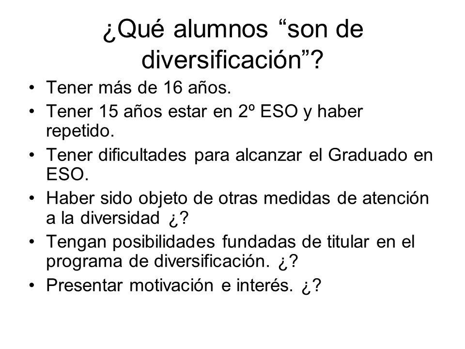 ¿Qué alumnos son de diversificación