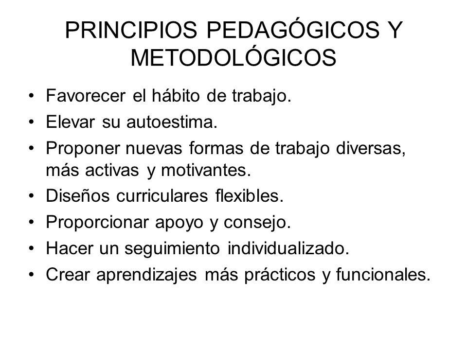 PRINCIPIOS PEDAGÓGICOS Y METODOLÓGICOS