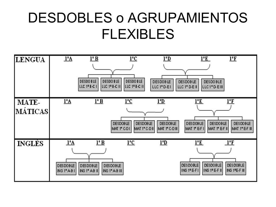 DESDOBLES o AGRUPAMIENTOS FLEXIBLES