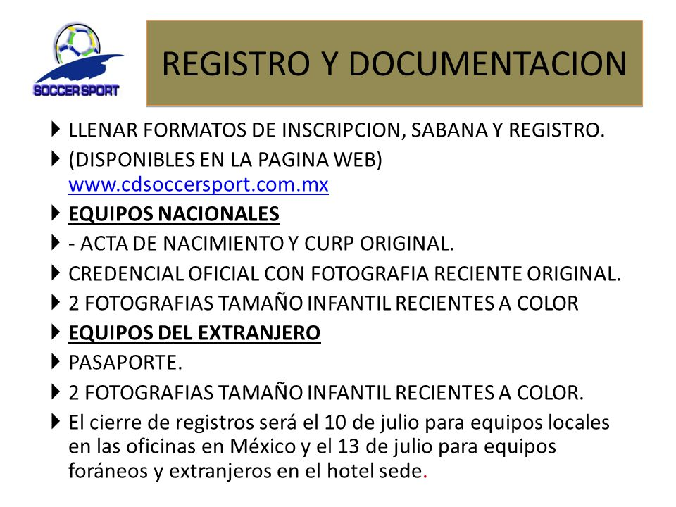 REGISTRO Y DOCUMENTACION