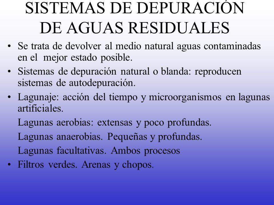 SISTEMAS DE DEPURACIÓN DE AGUAS RESIDUALES