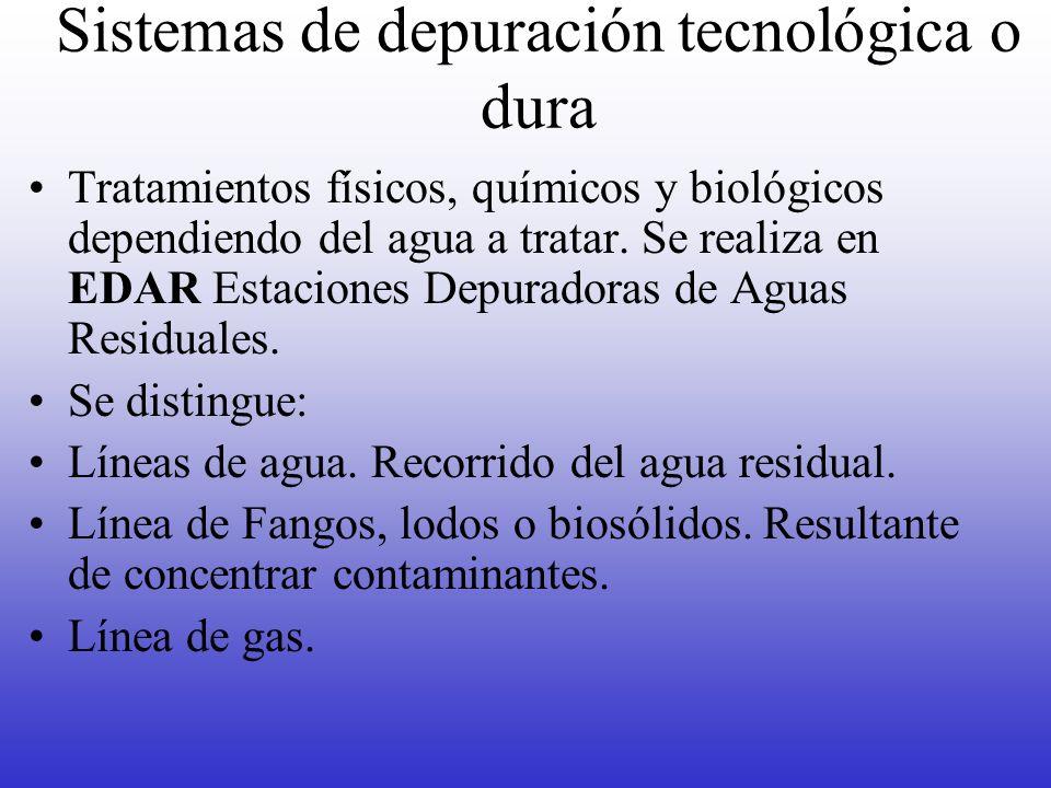 Sistemas de depuración tecnológica o dura