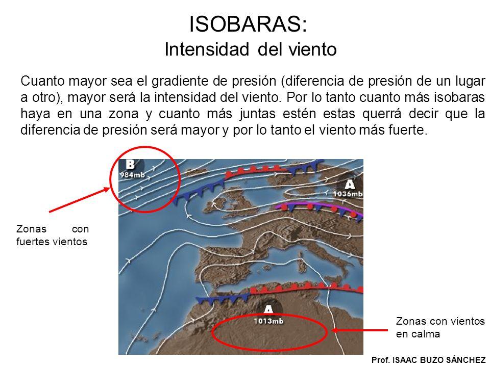 ISOBARAS: Intensidad del viento