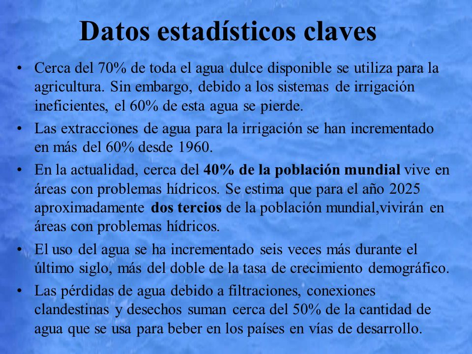 Datos estadísticos claves