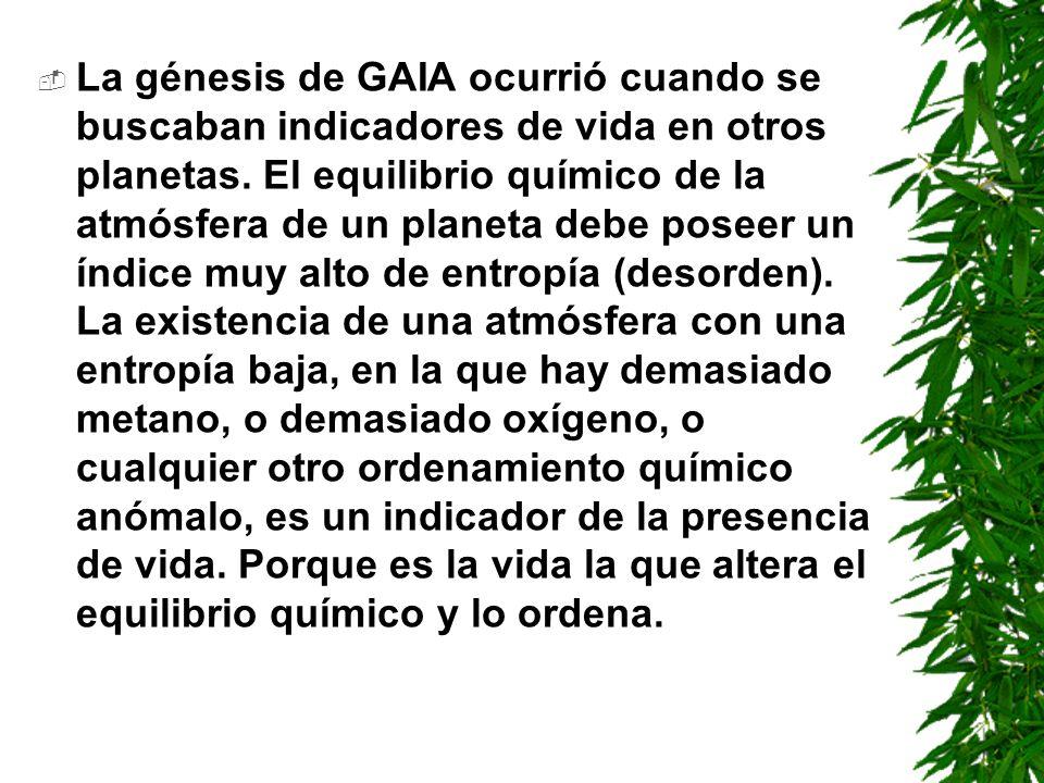 La génesis de GAIA ocurrió cuando se buscaban indicadores de vida en otros planetas.