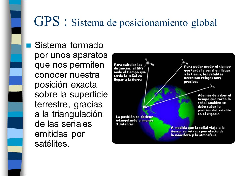 GPS : Sistema de posicionamiento global