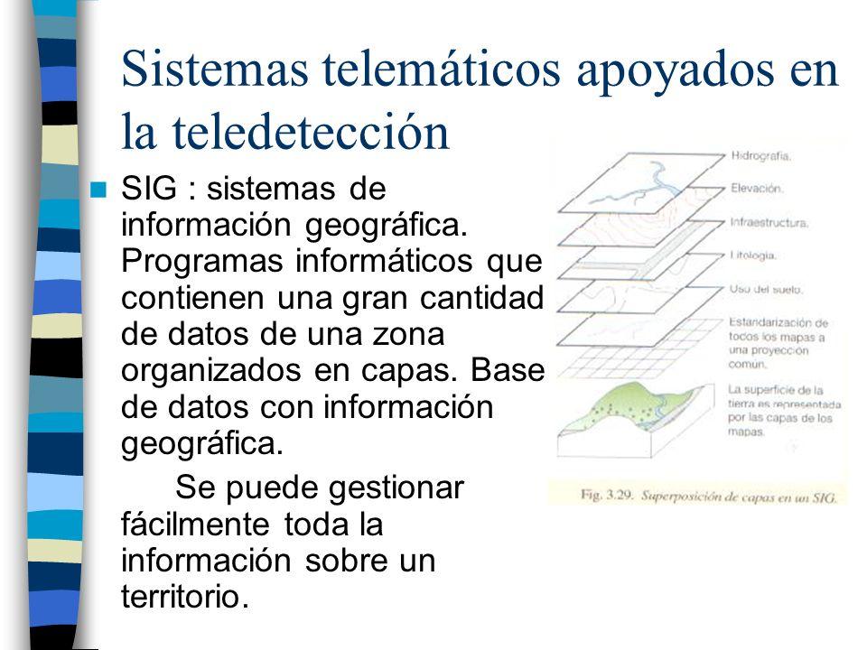 Sistemas telemáticos apoyados en la teledetección