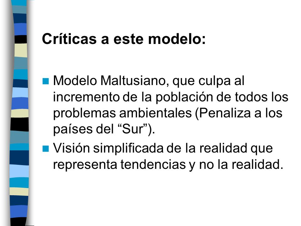 Críticas a este modelo: