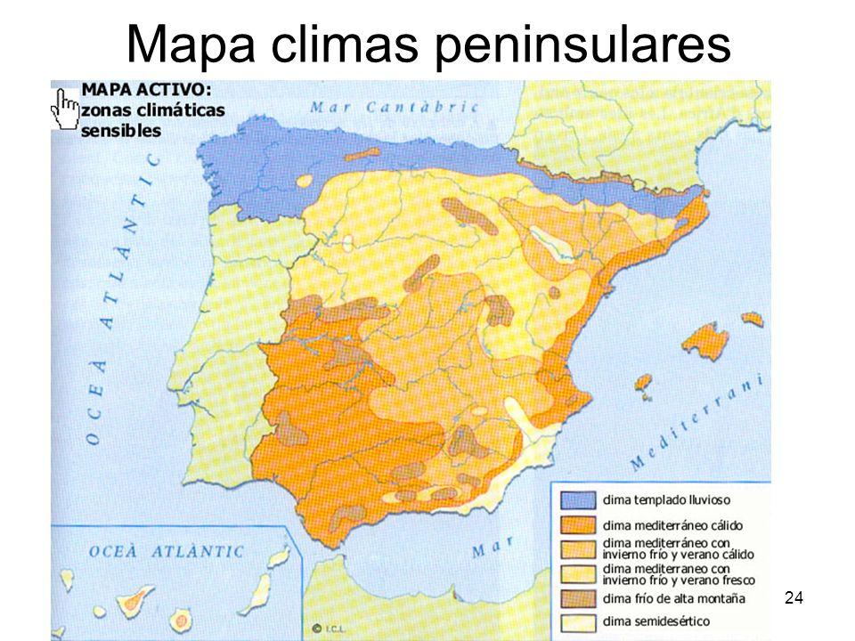 Mapa climas peninsulares