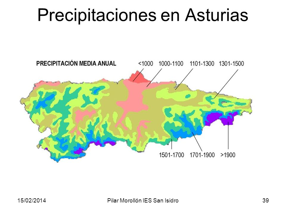 Precipitaciones en Asturias