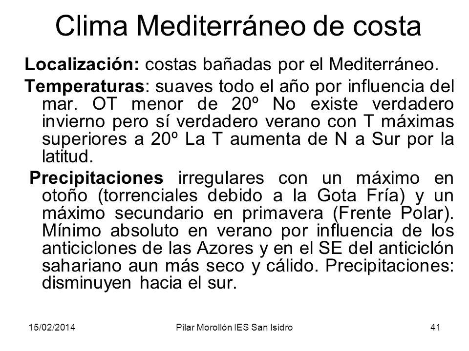 Clima Mediterráneo de costa