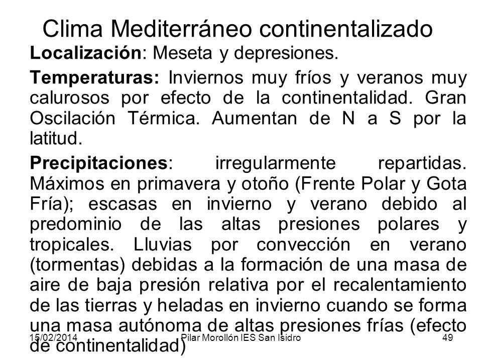 Clima Mediterráneo continentalizado