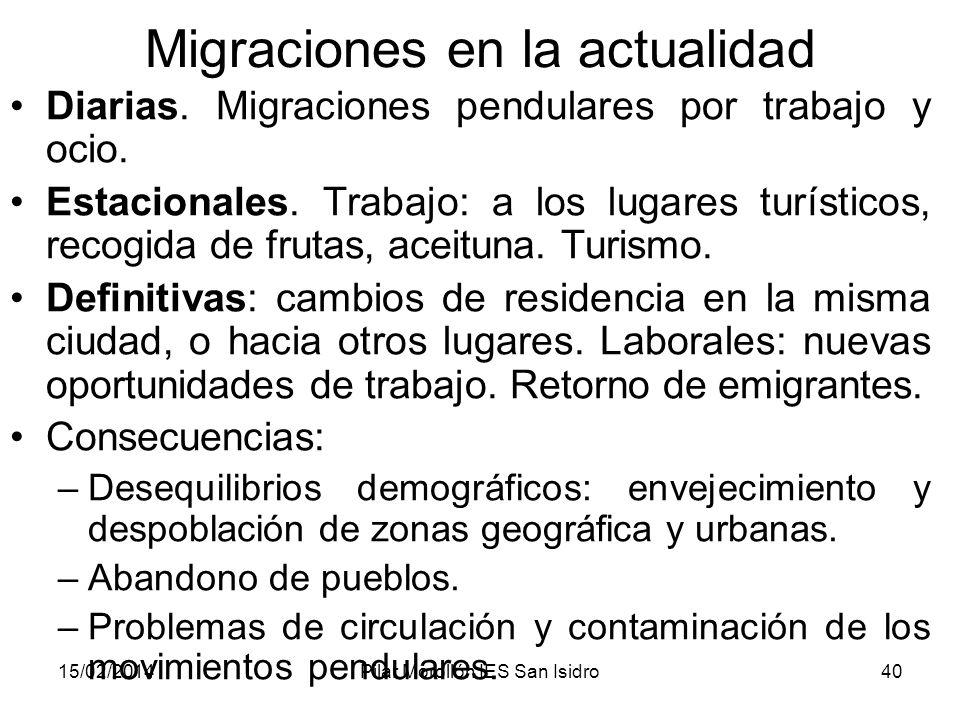 Migraciones en la actualidad
