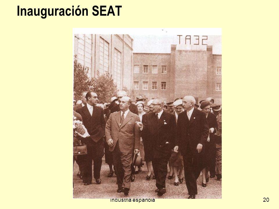 Inauguración SEAT Industria española
