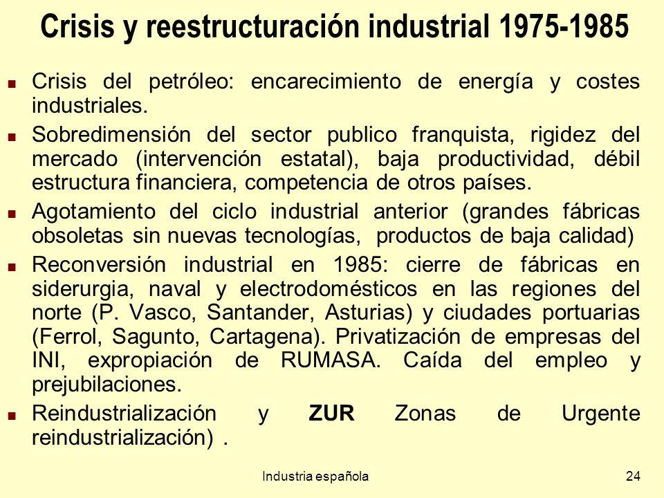 Crisis y reestructuración industrial 1975-1985