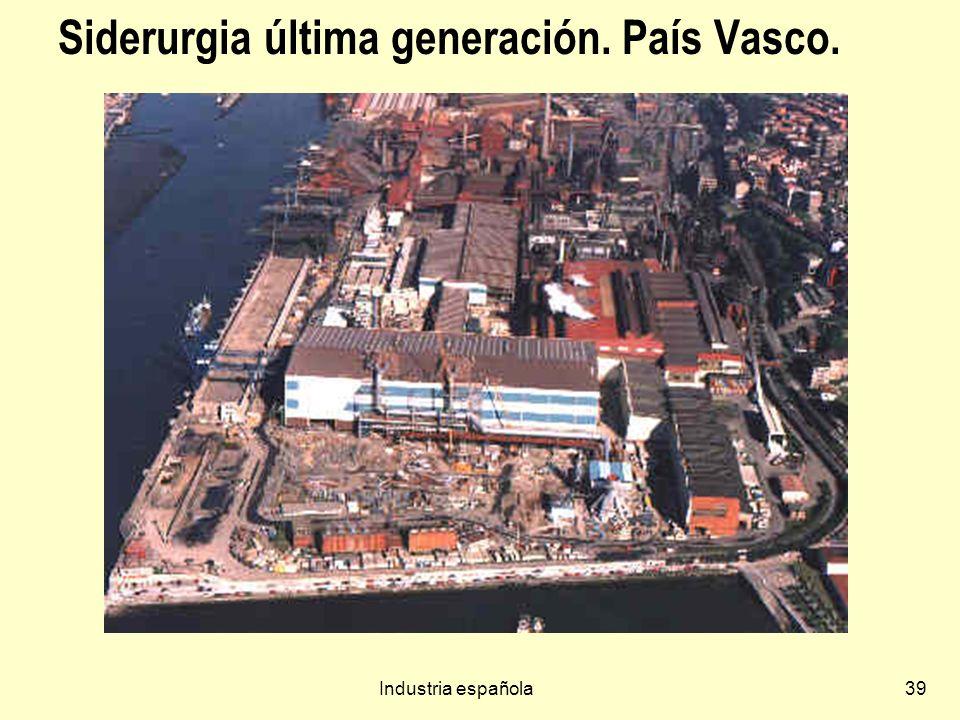 Siderurgia última generación. País Vasco.