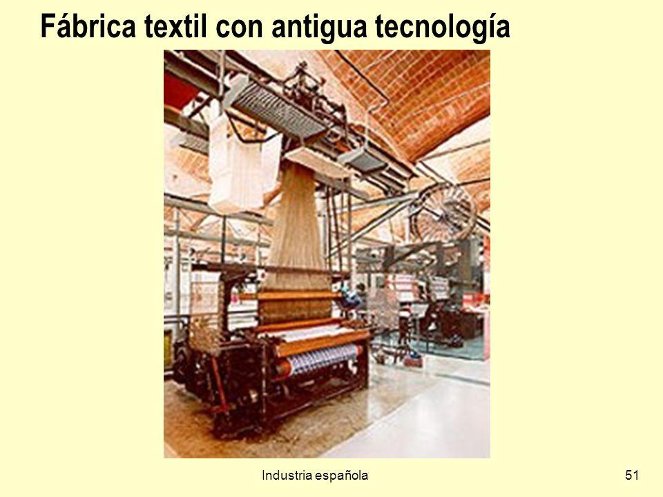 Fábrica textil con antigua tecnología