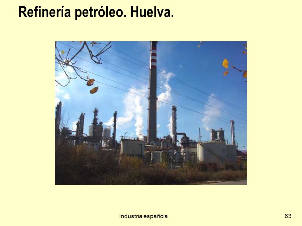 Refinería petróleo. Huelva.