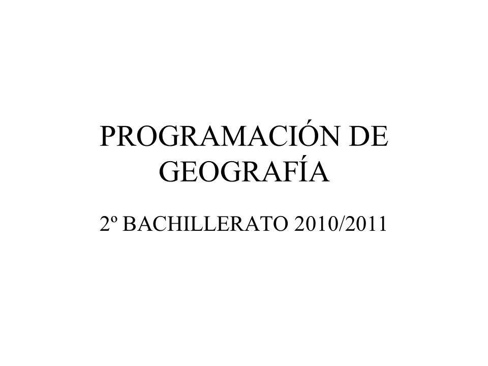 PROGRAMACIÓN DE GEOGRAFÍA