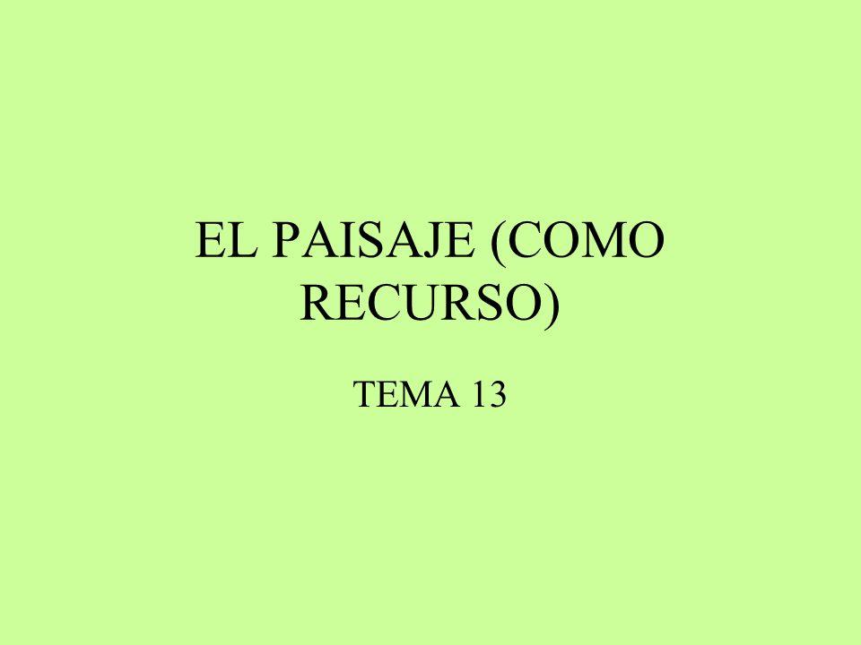 EL PAISAJE (COMO RECURSO)