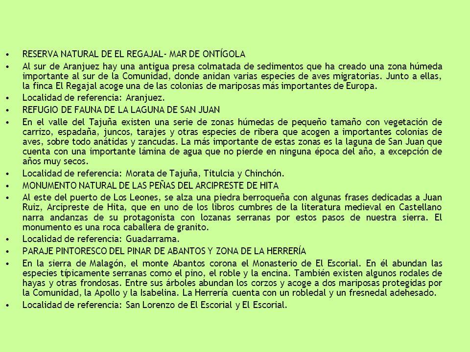 RESERVA NATURAL DE EL REGAJAL- MAR DE ONTÍGOLA