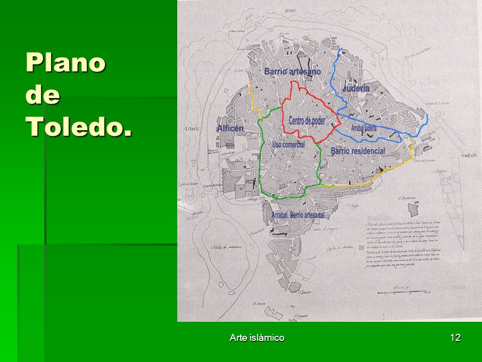 Plano de Toledo. Arte islámico