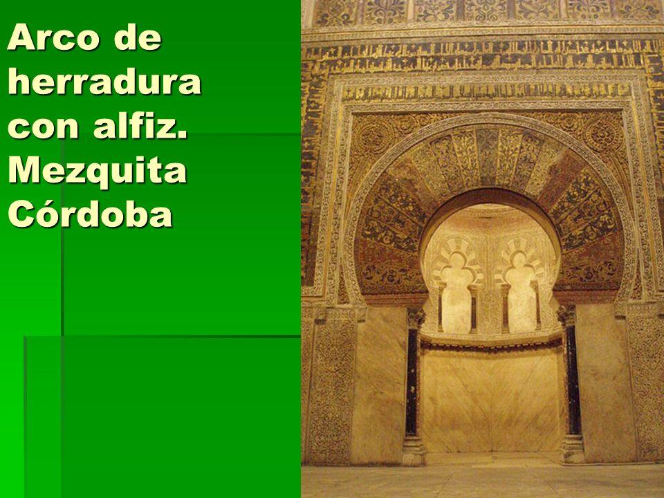 Arco de herradura con alfiz. Mezquita Córdoba