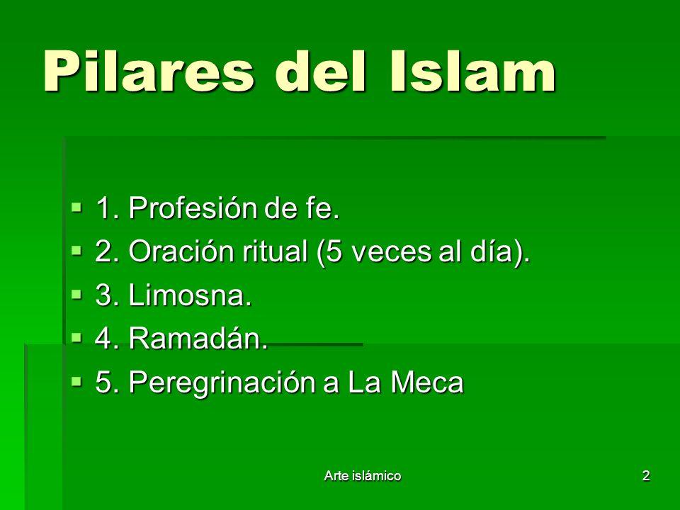 Pilares del Islam 1. Profesión de fe.