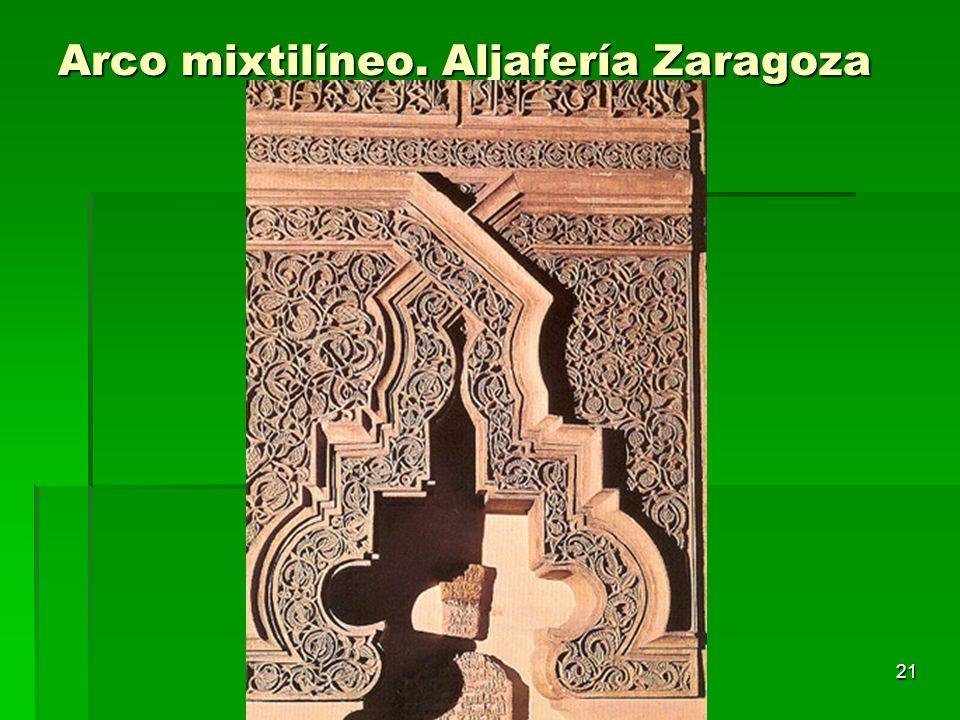 Arco mixtilíneo. Aljafería Zaragoza