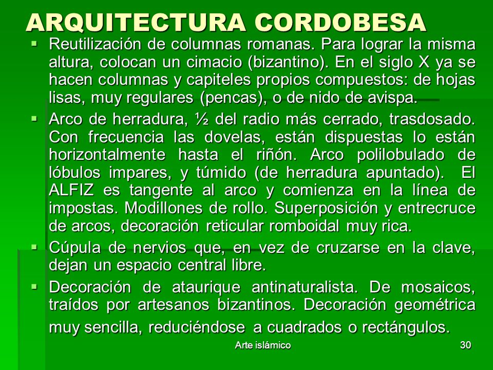 ARQUITECTURA CORDOBESA