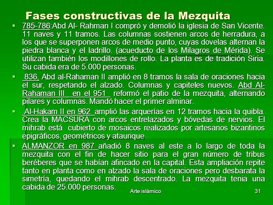 Fases constructivas de la Mezquita