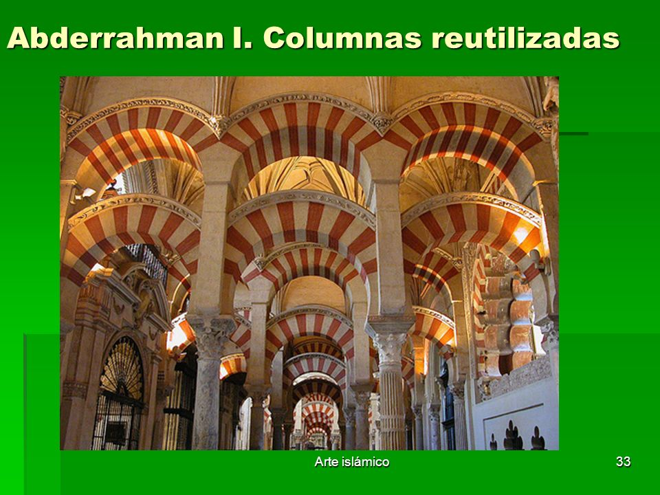 Abderrahman I. Columnas reutilizadas