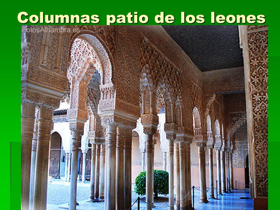 Columnas patio de los leones