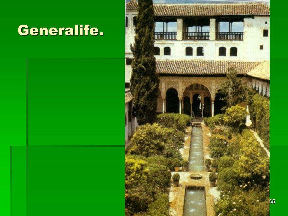 Generalife. Arte islámico