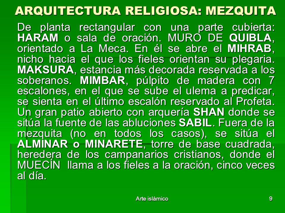 ARQUITECTURA RELIGIOSA: MEZQUITA