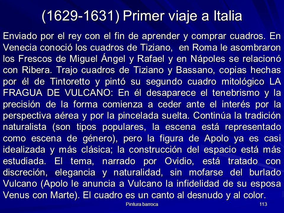 (1629-1631) Primer viaje a Italia