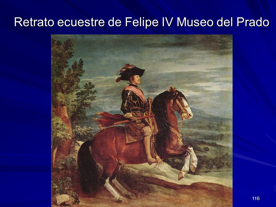 Retrato ecuestre de Felipe IV Museo del Prado