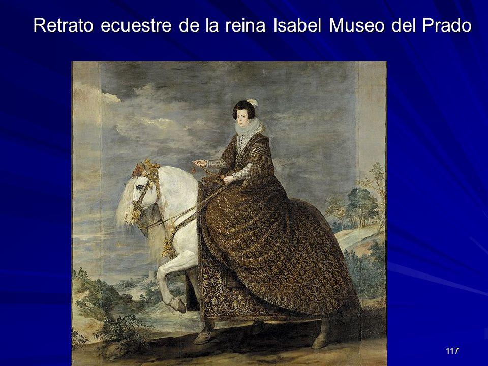 Retrato ecuestre de la reina Isabel Museo del Prado