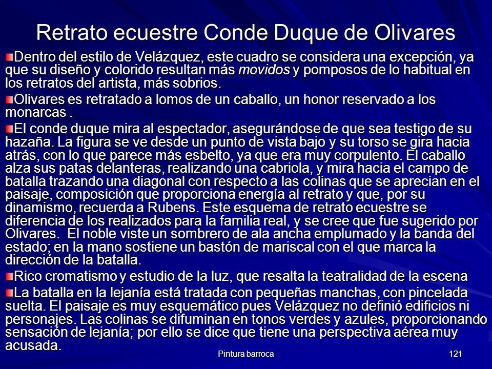 Retrato ecuestre Conde Duque de Olivares