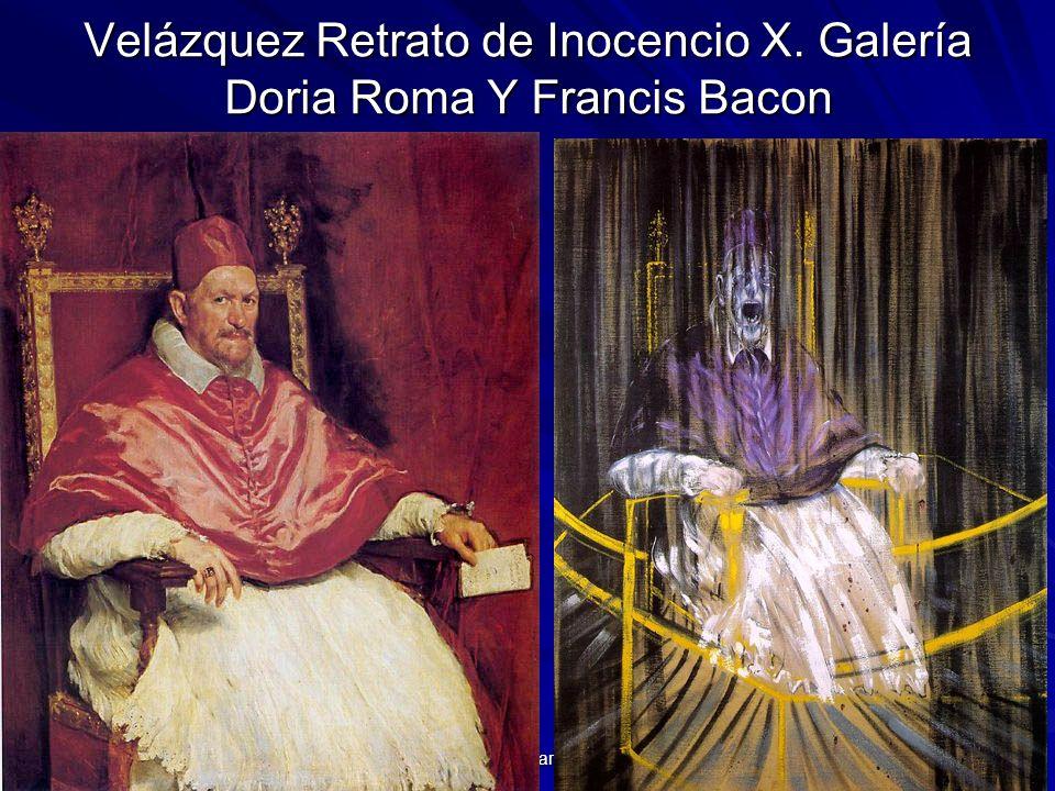 Velázquez Retrato de Inocencio X. Galería Doria Roma Y Francis Bacon