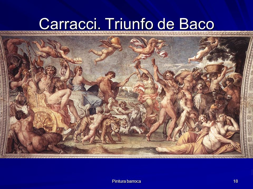 Carracci. Triunfo de Baco