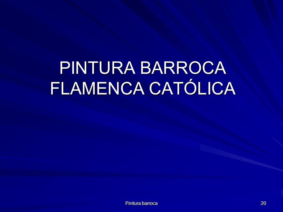 PINTURA BARROCA FLAMENCA CATÓLICA
